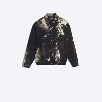 Balenciaga Bleached paint stain denim jacket
