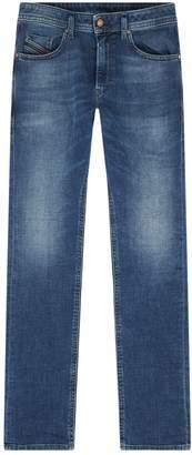 Diesel Sleekner Slim Stretch Crinkle Jeans