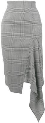 Off-White asymmetric houndstooth skirt
