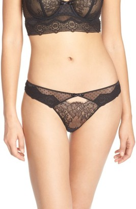 Women's Passionata By Chantelle Blossom Lace Keyhole Thong