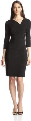 MSK Women's Long Sleeve Wrap Dress