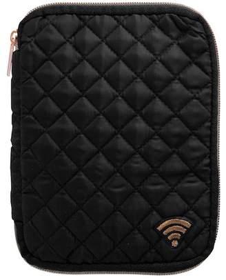MYTAGALONGS Black Coco Quilt Flat Tech Pouch