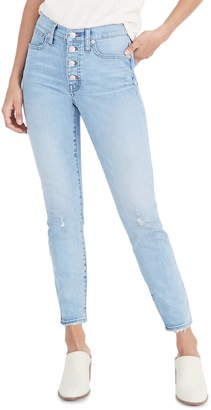 Madewell High Rise Crop Skinny Jeans