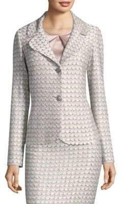 St. John Sequin Scallop Knit Jacket