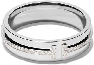 Tiffany & Co. & Co 18kt white gold T two diamond narrow ring
