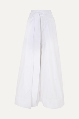 Kalita Avedon Cotton-poplin Wide-leg Pants - White