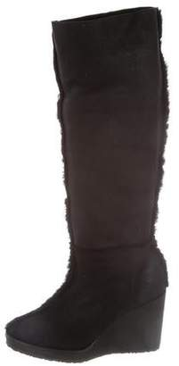 Castaner Shearling Wedge Boots w/ Tags