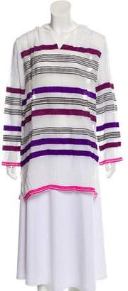 Lemlem Striped Sheer Tunic