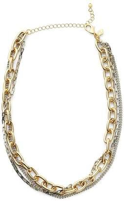 Rebecca Minkoff Tubular Multi Chain Short Necklace
