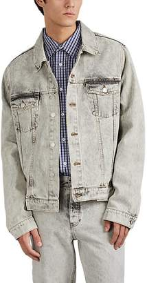 Martine Rose Men's Acid-Wash Denim Oversized Trucker Jacket
