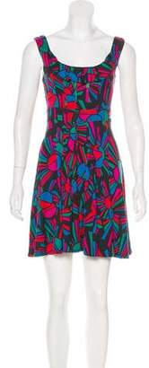 Marc by Marc Jacobs Printed Silk-Blend Dress