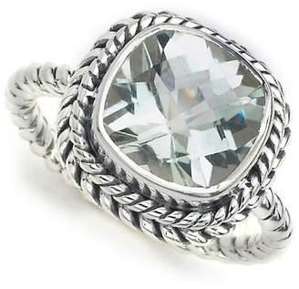 Samuel B Jewelry Sterling Silver Braided Trim Ring