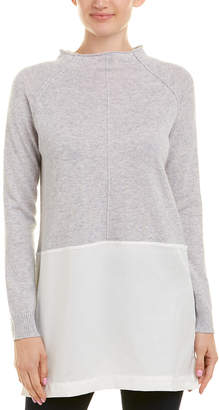 Qi Mixed Media Cashmere Sweater