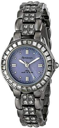 Swarovski Armitron Women's 75/3689GMDG Grey Crystal Accented Bracelet Watch