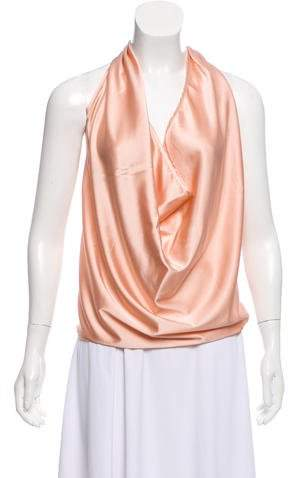 Ramy Brook Silk Halter Blouse