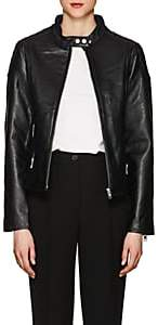 William Rast WOMEN'S LEATHER MOTO JACKET-BLACK SIZE XL