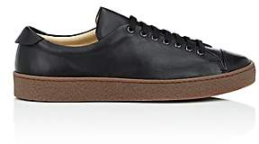 Barneys New York MEN'S CREPE-SOLE LEATHER SNEAKERS - BLACK SIZE 7 M