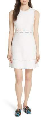 Kate Spade Blossom Trim Tweed Dress