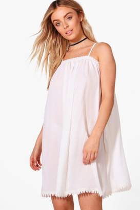 boohoo Lace Trim Swing Dress