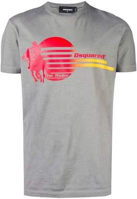DSQUARED2 Rider print T-shirt