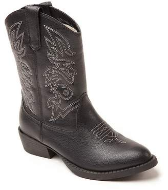 Deer Stags Ranch Embroidered Stitched Cowboy Boot (Little Kid)