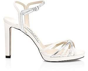 Jimmy Choo Women's Lilah Strappy Metallic Heeled Sandals