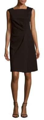 Lafayette 148 New York Solid Squareneck Sleeveless Dress