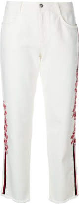 Ermanno Scervino embroidered cropped jeans