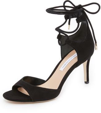 Diane von Furstenberg Rimini Wrap Sandals $298 thestylecure.com