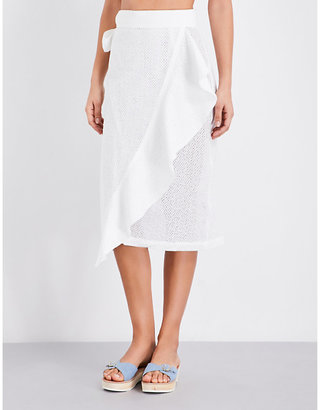 Marysia Seahaven cotton skirt $500 thestylecure.com