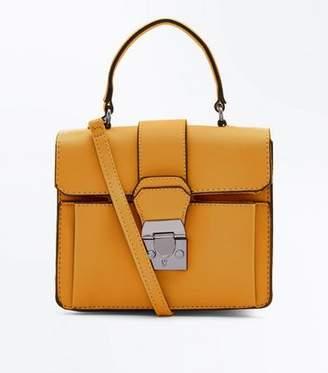 New Look Mustard Top Handle Bag