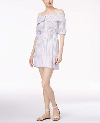 Maison Jules Striped Off-The-Shoulder Dress $89.50 thestylecure.com