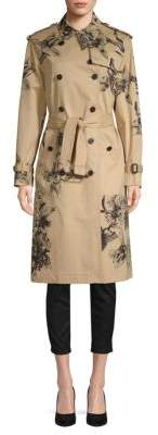 Valentino Floral-Print Cotton Coat