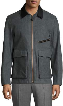 Billy Reid Men's Henry Contrast Collar Field Jacket