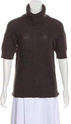 Magaschoni Turtle Neck Rib-Knit Top
