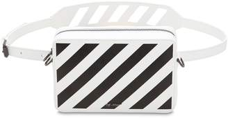 Off-White Stripe Printed Leather Belt Bag