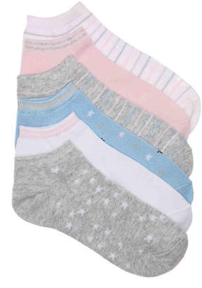 Mix No. 6 Star No Show Socks - 6 Pack - Women's