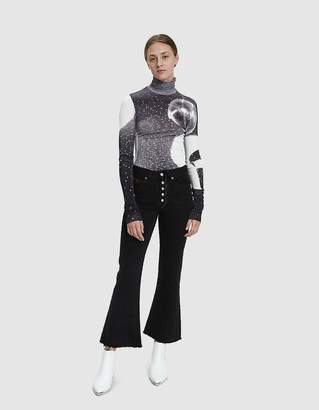 MM6 MAISON MARGIELA Reflex Print Turtleneck T-Shirt