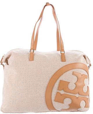 Tory BurchTory Burch Leather-Trimmed Duffel Bag