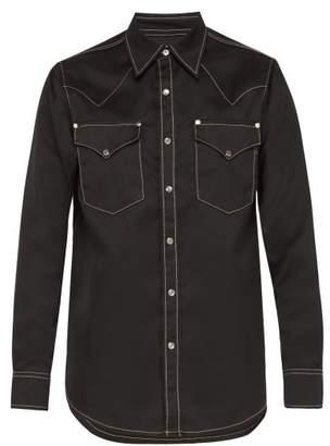 Eytys Sierra Western Twill Shirt - Mens - Black