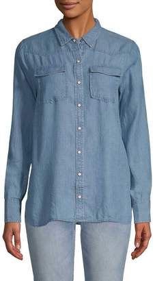 Gold Hawk Women's Denim Western Shirt