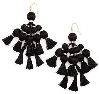 Women's Kate Spade New York Pretty Poms Tassel Earrings $98 thestylecure.com