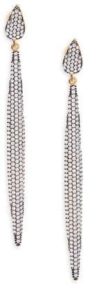 Azaara Women's Crystal & Sterling Silver Linear Drop Earrings