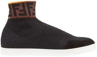 Fendi knit high-top sneakers