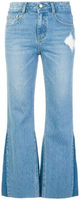 Sjyp boot cut cropped jeans