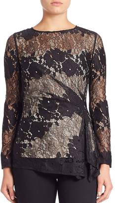 Natori Women's Ruched Lace Top