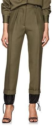 Victoria Beckham Women's Drawstring-Hem Wool High-Waist Trousers