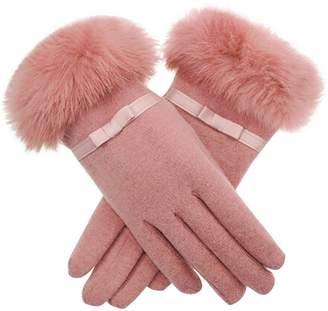 X Shop Women's Winter Gear Rabbit Fur Thicken Gloves []