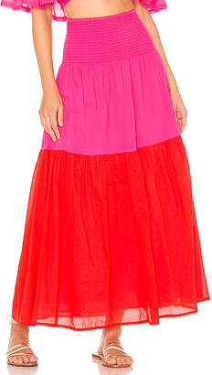 ANAAK Mai Colorblock Maxi Skirt