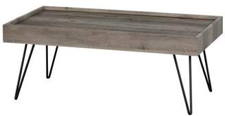 South Shore Slendel Coffee Table with Hairpin Legs, Multiple Finishes